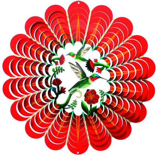 """Wind Spinner-3D Collection HUMMINGBIRD Large 12"""""""
