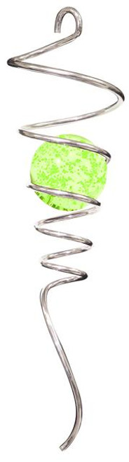"""10"""" SPIRAL TAILS SILVER/GLOW CRYSTAL BALL"""