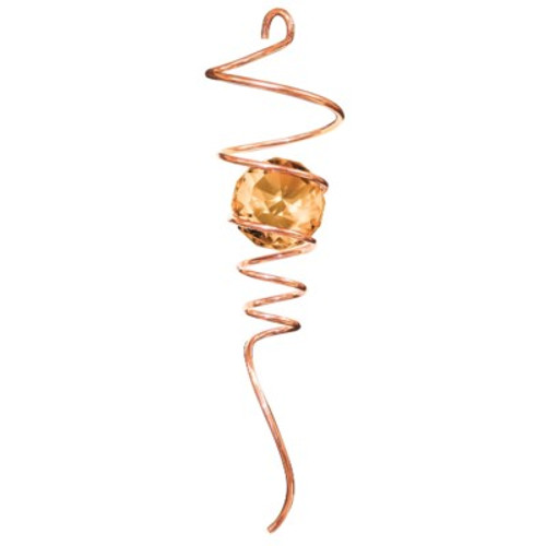 """10"""" SPIRAL TAILS COPPER/AMBER CRYSTAL BALL"""