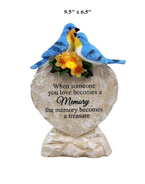 Solar Bluebird Memorial Stone