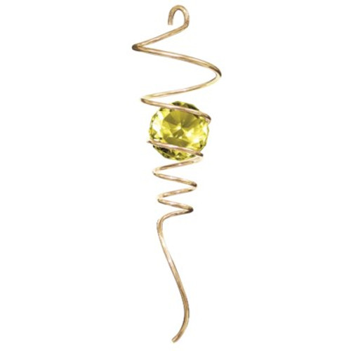 """10"""" SPIRAL TAILS GOLD/AMBER CRYSTAL BALL"""
