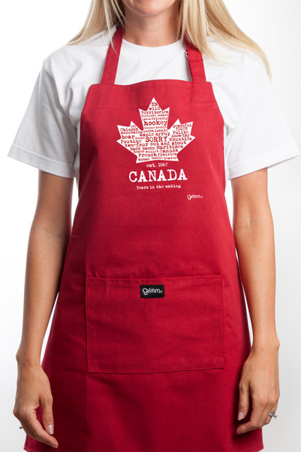 Canadian Maple Leaf Apron