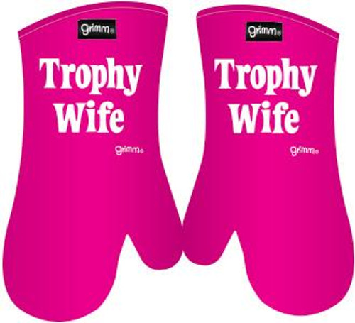 Trophy Wife Pink Oven Mitt Set