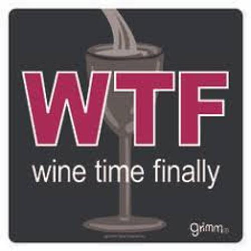 "Wine Bottle Trivet Wine Time-5.5"""
