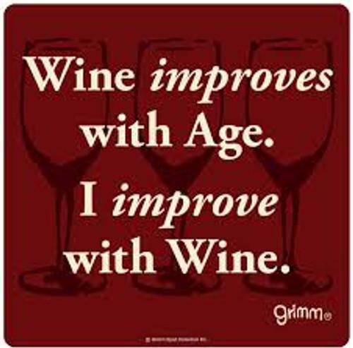 "Improve with age Wine Bottle Trivet-5.5"""