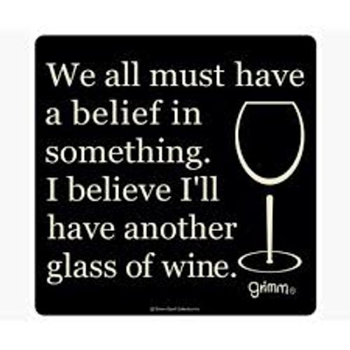 """Believe In Wine Bottle Trivet-5.5"""""""