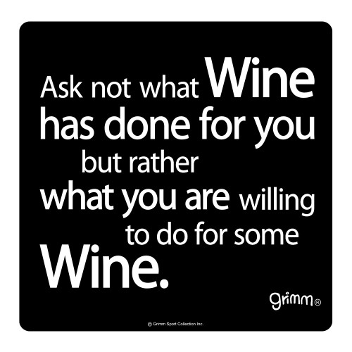 Willing to do for Wine - Wine Bottle Trivet -5.5