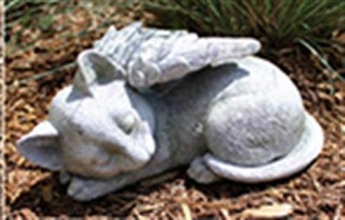 Memorial Sleeping Cat w\wings