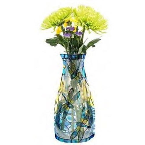 Louis C Tiffany-Dragonfly Vase collapsible