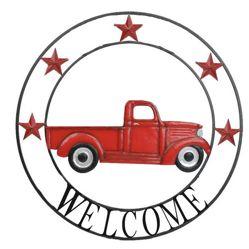 Truck Welcome Circle Metal