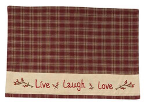 STURBRIDGE LIVE LOVE LAUGH PLACEMATS(4)