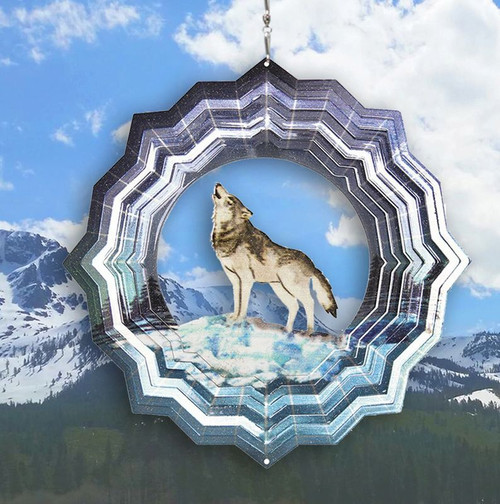 """Wind Spinner Wolf -Vivid Collection LARGE 12"""""""