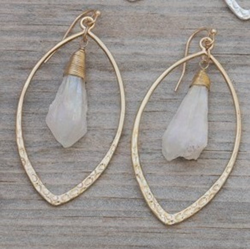 Aura Earrings-gold/white