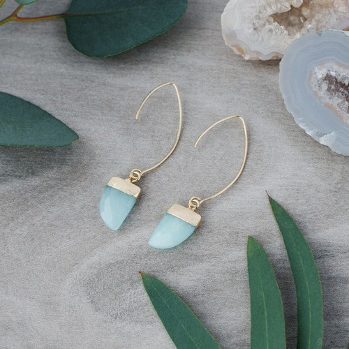 Chic Earrings-gold/aqua