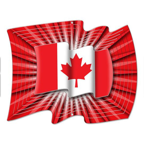 Canada Flag Wind Spinner LARGE 12.2""