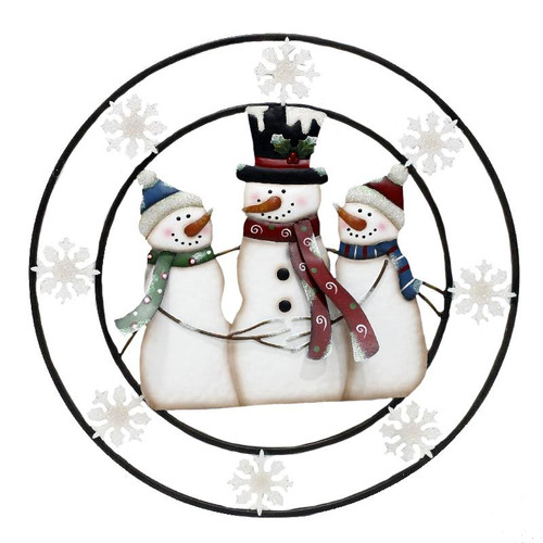 SNOWMAN WREATH / PLAQUE
