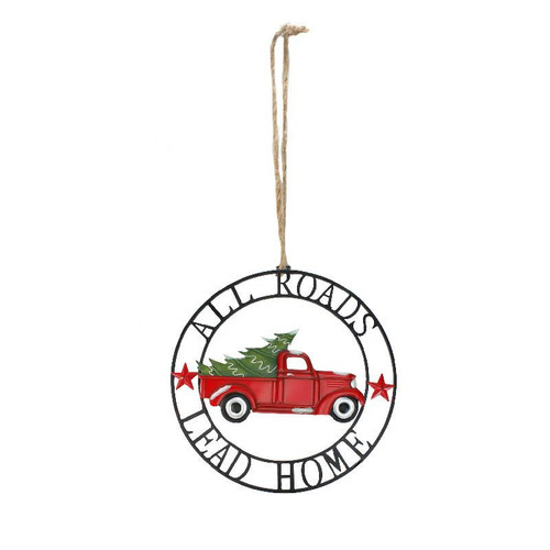 ALL ROADS LEAD HOME TRUCK ORNAMENT