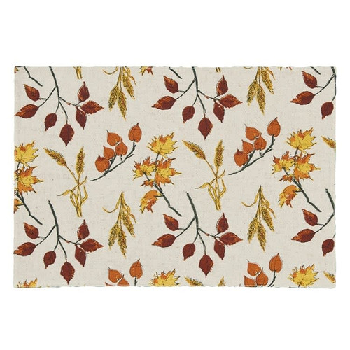 Fall Leaves & Wheat Placemats Set of 4