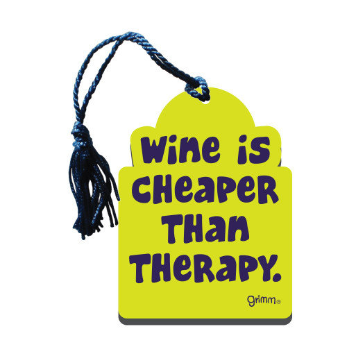 Bottle Gift Tag/ Wine Cheaper Than Therapy