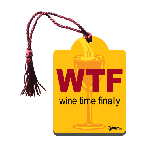 Bottle Gift Tag - WTF Wine Time Finally