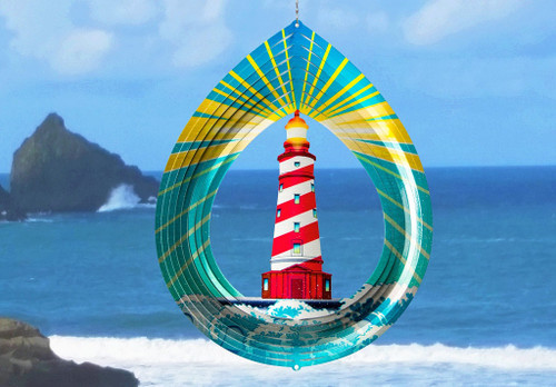 Vivid Collection Wind Spinner LIGHTHOUSE Large 12.2""