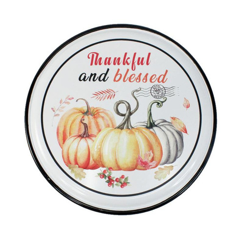 BLESSED ROUND WALL PLAQUE