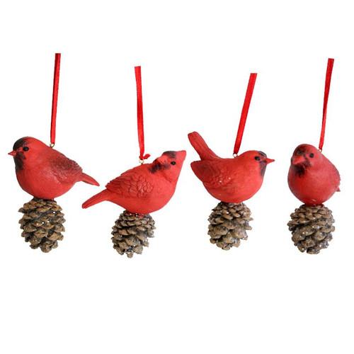 Cardinal w/Pinecone Ornament