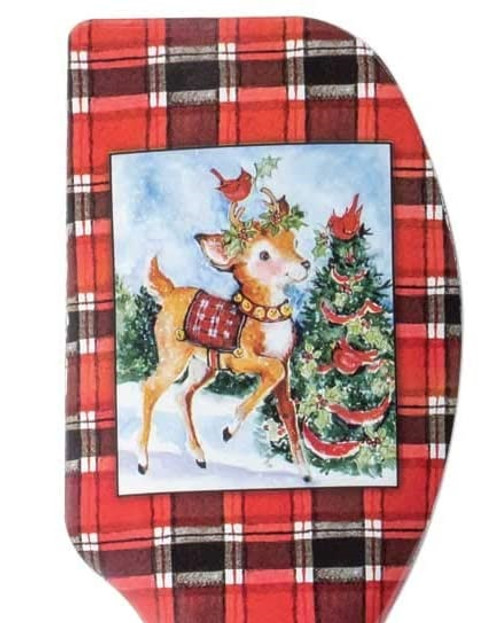 Christmas Reindeer, Set of 2 Silicone Spatulas