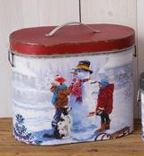 Snow Day Nesting Tin-Large