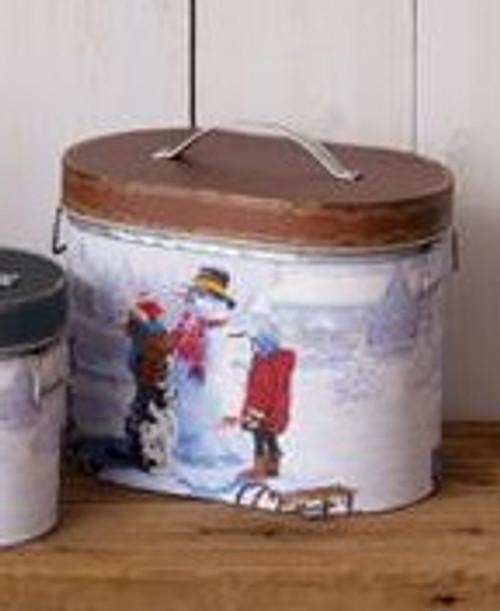 Snow Day Nesting Tin  - Medium