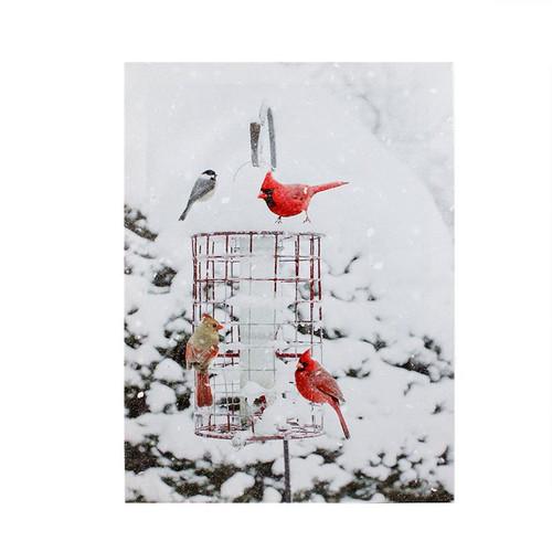 BIRD FEEDER LED CANVAS
