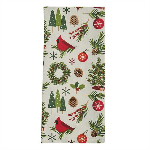 Christmas Greenery Kitchen Dishtowel