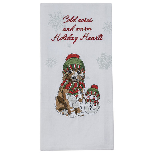 COLD NOSES EMBROIDERED DISHTOWEL