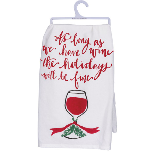 Dish Towel - Have Wine at the Holidays