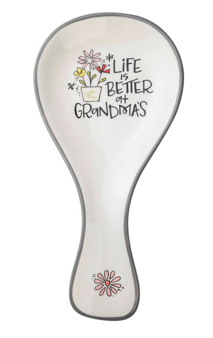 Life Is Better At Grandma's Spoon Rest