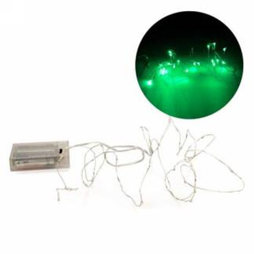 Green led wire garland