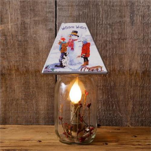 Electric Jar Light - Welcome Winter