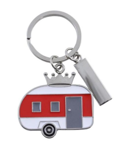 Red Camper Key Chain