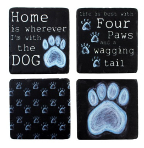 Dog Paws Coasters (Set of 4)