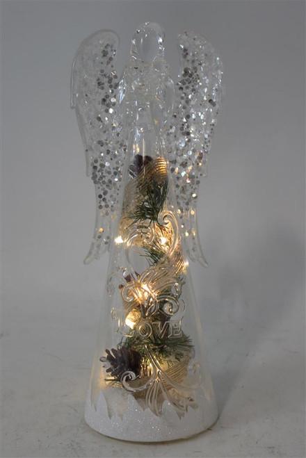Clear LED Angel Figurine