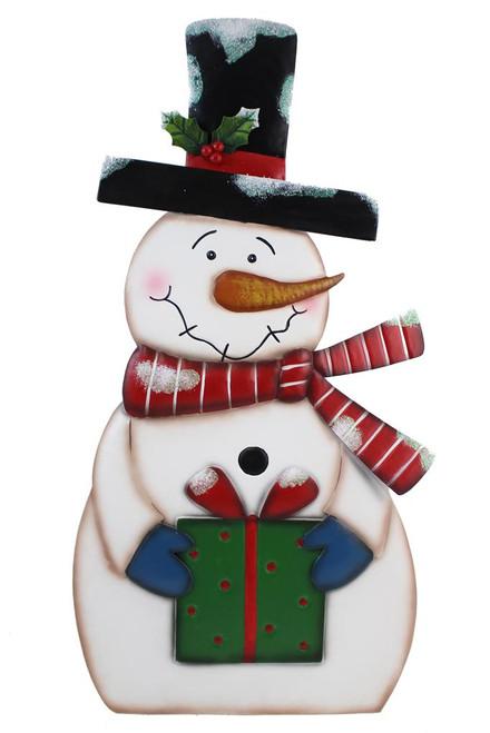 Metal Free Standing Snowman