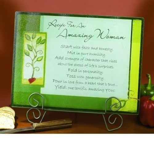 AMAZING WOMAN GREEN CUTTING BOARD