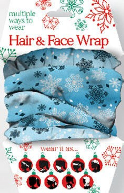 SNOWFLAKES HAIR-FACE WRAP