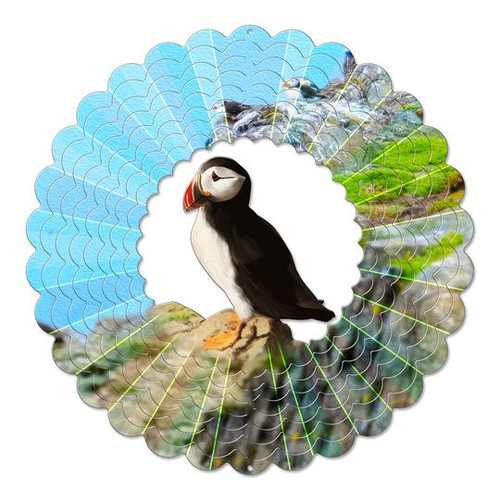 """Wind Spinner-Vivid Collection LARGE PUFFIN 12"""""""