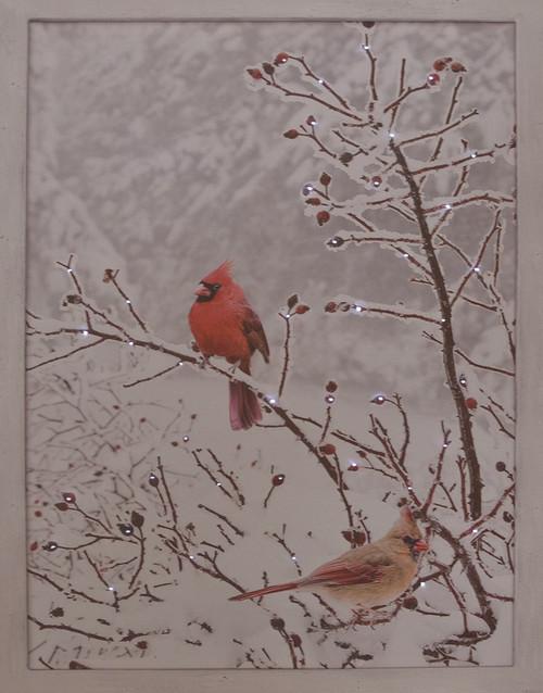 LED Cardinals Canvas Print