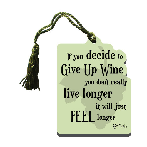 Gift Tag-Give Up Wine