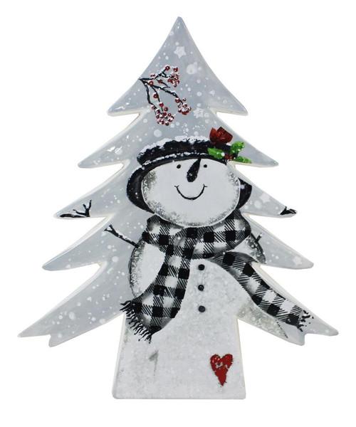 Ceramic Tabletop Tree w/Snowman