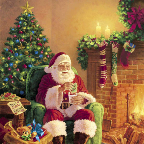 Santa at Home - Cocktail Napkin