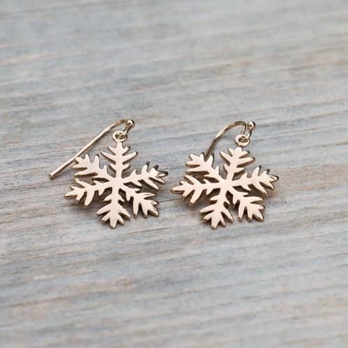 Snowflake Earring-gold
