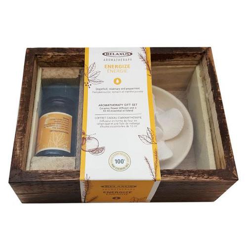 Essential Oil Gift Set & Ceramic Diffuser-Energize